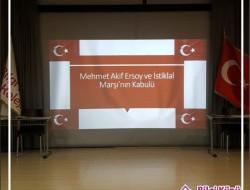 İSTİKLAL ŞAİRİMİZ MEHMET AKİF ERSOY'U ANMA PROGRAMI