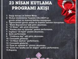 23 NİSAN KUTLAMALARI